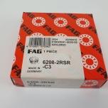 6208-2RSR/C3 FAG Radiaalkuullaager kummikattega